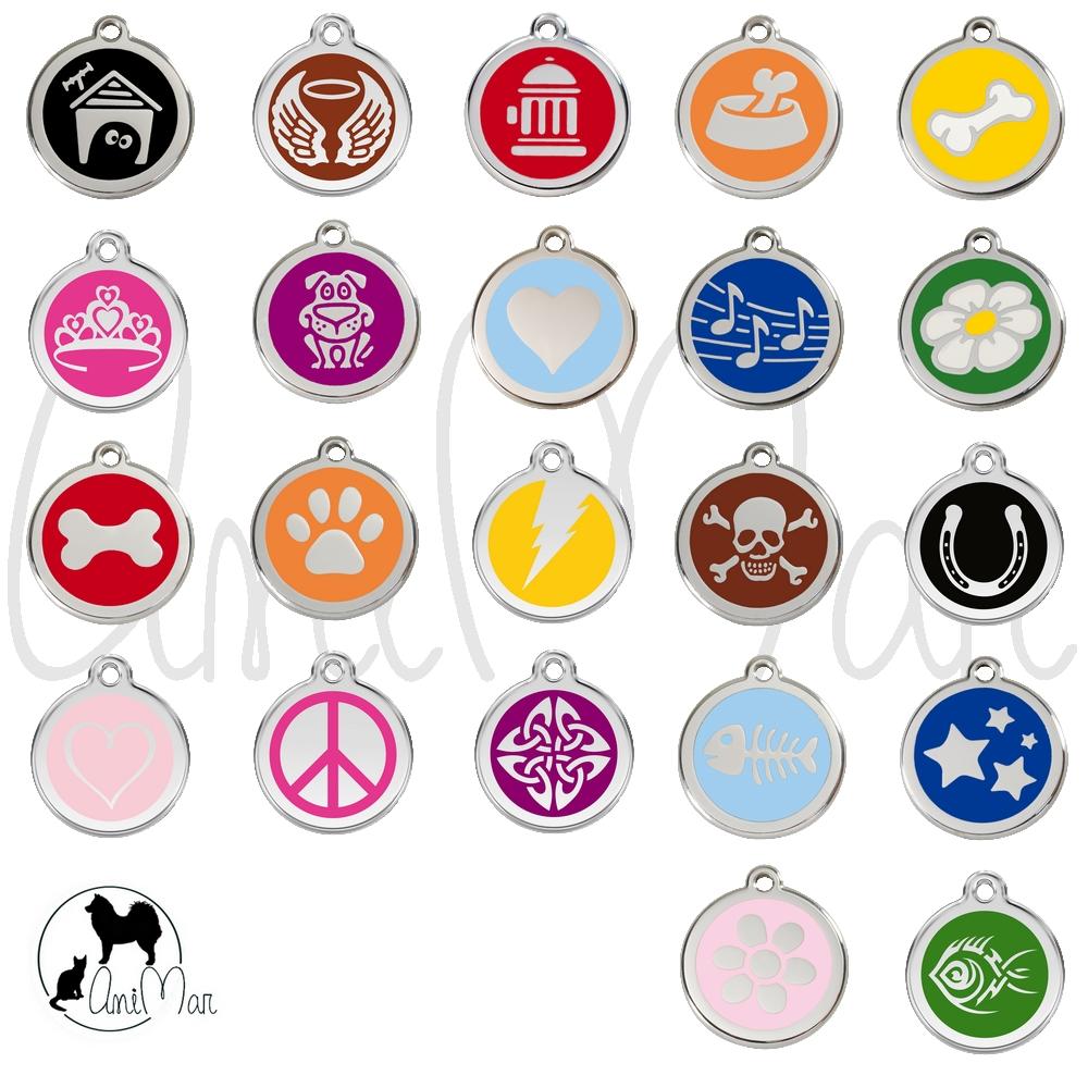 Médaille pour chien motifs colorés