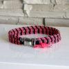 collier pour chien paracorde rose