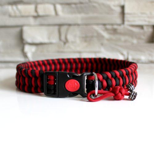 collier en paracord rouge