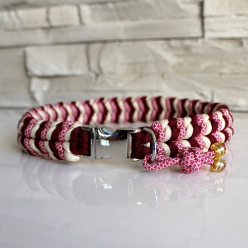 collier chien paracord maya