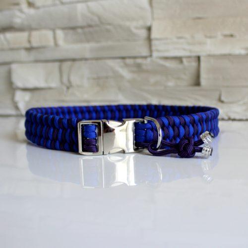 collier en paracord bleu